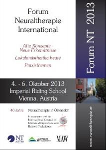 FORUM NEURALTHERAPIE INTERNATIONAL 4-6 OKTOBER 2013 VIENNA